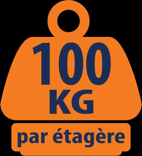 Unité de Stockage Chromé de Charge Lourdes, Coin à 5 Niveaux 100KG (capacité de charge massive de 500KG) - 1838mm H x 907/670mm L x 457mm P