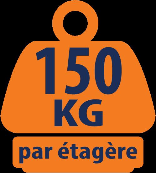 Etagère de Coin en Acier Charge Lourdes 1500mm H x 750mm L x 300mm P - 150KG