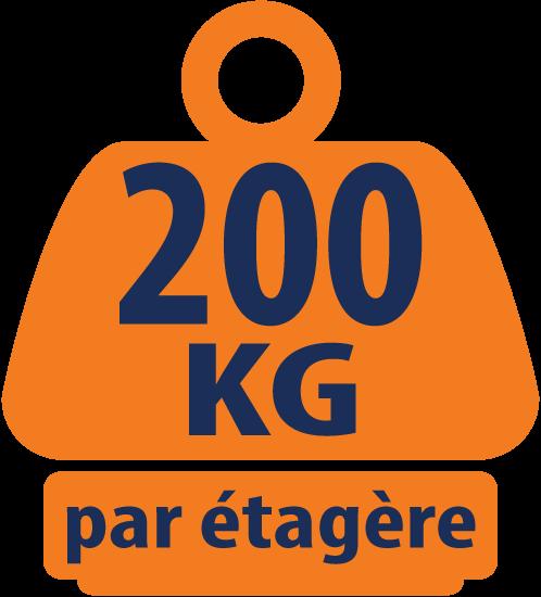 Ensemble de Garage en Coin Charges Lourdes - 1 Étagère d'angle et 2 Étagères Charges Lourdes - 1800mm H x 1500mm L x 450mm P