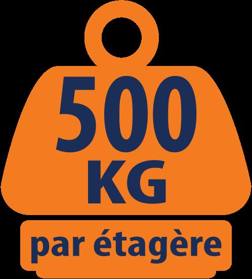 Rayonnage de Charge Lourdes Bleu et Orange à 4 Niveaux 1800mm H x 1800mm L x 600mm P