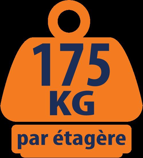 Ensemble de Garage Galvanisé en Coin - 1 Étagère Coin et 4 Étagères 1800mm H x 900mm L x 400mm P 175KG