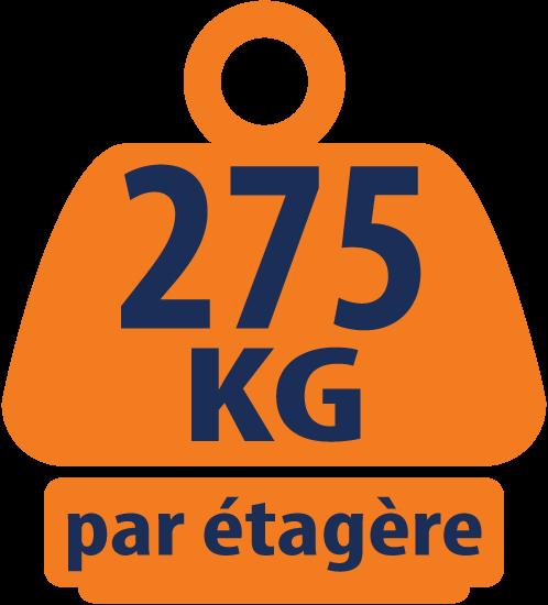 Rayonnage de Garage / Étagère à 5 Niveaux 1800mm H x 1200mm L x 450mm P