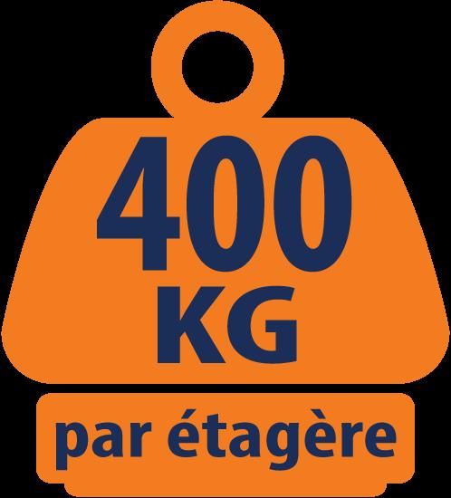 Étagères /Rayonnage de Charge Lourdes Bleu et Orange 4 Niveaux 1800mm H x 1500mm L x 450mm P